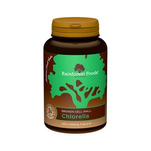 Chlorella BIO Rainforest Foods 300 tabl.