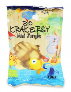 Krakersy mini jungle BIO 100g Bio Ania