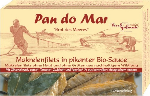Makrela w BIO pikantnym sosie 120g Pan do Mar-714